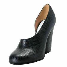 Maison Margiela 22 Mujer Serpiente Estampado Negro Zapatillas Tacón Alto 6 It 37