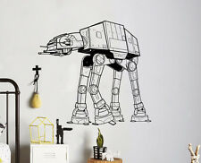 AT AT Star Wars Wall Vinyl Decal Sticker Removable Unique Home Art Decor 24(nse)