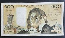 FRANCE - FRANCIA - FRENCH NOTE - BILLET DE 500 FRANCS PASCAL DU 1/2/1990.