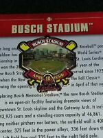 WILLABEE & WARD BUSCH STADIUM ST. LOUIS CARDINALS MLB BASEBALL PIN W/CARD