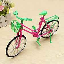 Exquisite Detachable Plastic Bike Bicycle Toy fits Barbie Doll Rotatable Wheels