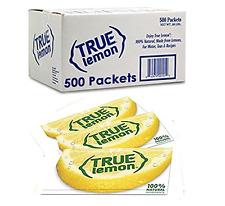 True Lemon Bulk Pack 500ct Crystallized Sweetener 5 Free Variety Lemonade Sample