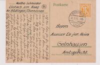 Bizone/AM-Post, Mi. 4z EF, Büdingen/Oberhess/Land, 21.1.46