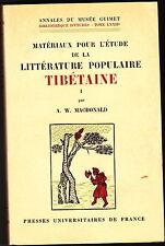 TIBET Asie littérature populaire manuscrit tibétain 1967 MacDonald musée Guimet