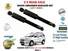 FOR SUBARU JUSTY 1.3 1.5 AWD 2003-> 2 X REAR LEFT + RIGHT SHOCK ABSORBER SET