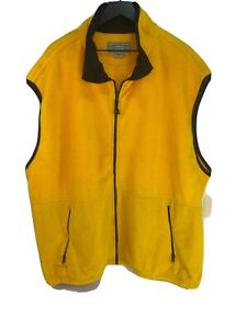 New Timberline Men's Yellow Fleece Full Zip Vest Jacket 4XL