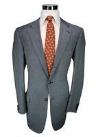 * Ermenegildo Zegna * White & Blue Woven Wool 3-Btn Sport Coat Blazer 44L US