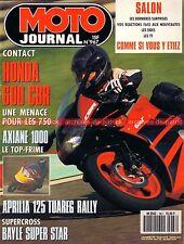 MOTO JOURNAL  967 Essai Road Test HONDA CBR 600 F YAMAHA 250 YDS 6 FZR 1000 1990