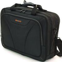 """Alpine Swiss Cortland 15.6"""" Laptop Bag Organizer Briefcase Black"""