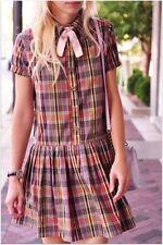 Plaid Regular Size Shirt Dresses for Women