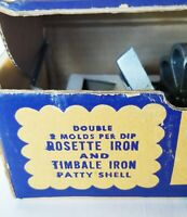 Nordic Ware Vintage Aluminum Double Rosette Iron & Timbale Iron