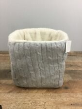 Elegant Baby Gray Cable Sweater Caddy Dresser Storage Changing Table Basket