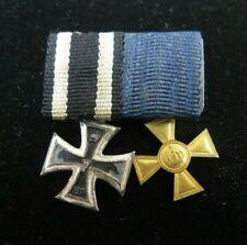 1813-1914 WW1 German Iron Cross W/ Ribbon + Military 15 Year Long Service Cross