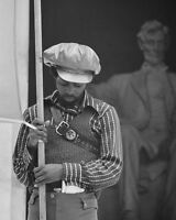 BLACK PANTHER AT LINCOLN MEMORIAL LEFFLER 8x10 SILVER HALIDE PHOTO PRINT