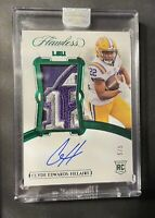 2020 Panini Flawless Collegiate Emerald #146 Clyde Edwards-Helaire JSY AU 5/5 🔥