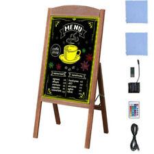 Rustic Large Wood A Frame Magnetic Led Chalkboard Blackboard Wedding Cafe Xmas