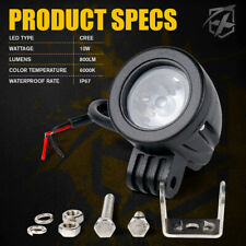 "2""Inch 10W LED Round Light Spot Beam Work Lamp Offroad Driving Fog Light Pods"