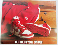 1985 NIKE Dunk Basketball Poster Be True To Your School St Johns Red Strom BTTYS