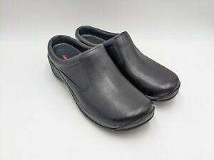 Merrell Encore Q2 Slide Black Leather Clogs J45810 Women's Size 11 Slip On Moc