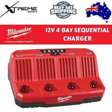 Milwaukee 4 Bay Sequential Charger 12V