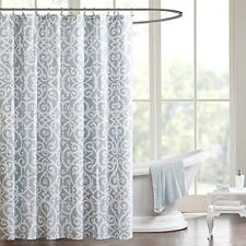 Madison Park Pure MPP70-047 100% Cotton Percale Printed Shower Curtain NEW