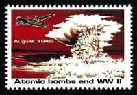 """1995 ATOMIC BOMB ENDS WWII US POSTAGE POSTER """"STAMP"""" RESCINDED BY USPS ENOLA GAY"""