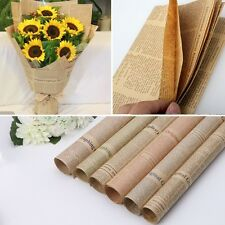 5pcs Newspaper Gift Flower Wrapping Paper Party Decor Vintage Craft Paper