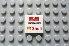LEGO Shell, Vodafone, Bridgestone Decorated 2 x 2 tile as Shown (Sticker)