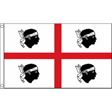 Sardinia Flag 5Ft X 3Ft Mediterranean Island Banner With 2 Eyelets New