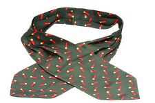 Green Shotgun Red Cartridge Silk Cravat Neck Tie Mens Shooting Gift