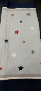'The Little White Company'  Patchwork Single blue stars Quilt bedspread BB727
