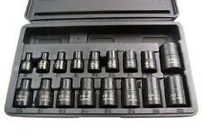 """US PRO Tools 17pc 3/8"""" & 1/2"""" dr Impact E-Torx Sockets Set E5-E24 NEW 1357"""