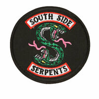 Riverdale South Side Serpents Snake Patches Sew Iron On Clothes Applique Badge
