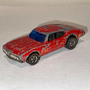 Hot Wheels Redline 442 Oldsmobile Fire Dept 10 Hong Kong 1969 Red Fair+