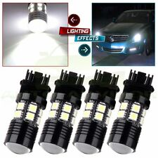 4X 3157 White 6000K Back Up Reverse Projector Cree+12-SMD Chip LED Lights Bulbs