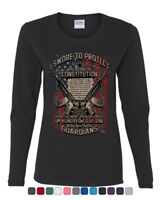 Swore to Protect Defend the Constitution Women's Long Sleeve Tee Guardian Nation