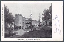 CASERTA SPARANISE 03 CASTELLO di MONTANARO Cartolina viaggiata 1907