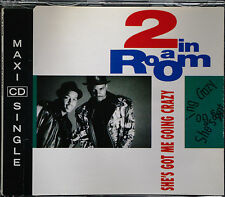 """2 IN A ROOM """"She's Got Me Going Crazy""""  6-Track-Maxi-CD 1991"""