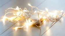 40 or 30 Warm White LED AA Battery Fairy Lights WEARABLE PORTABLE Party from UK