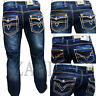 Zahida Men's Jeans Pants used-denim-look Cargo Thick Seams Clubwear W30 - W38