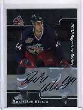 ROSTISLAV KLESLA /02 ITG BAP Be A Player AUTO AUTOGRAPH Signed Signature Card