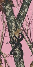 Browning Pink Mossy Oak Camo - Cornhole Board Game Wrap Decal Set