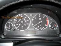 Pour BMW E38 E39 X5 E53 Argent Anneaux Cerclages De Compteur Chromes 4 pieces