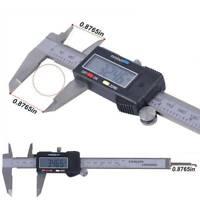 150mm/6in LCD Digital Electronic Carbon Fiber Vernier Caliper Gauge Micrometer