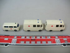 h350-0, 5 #3X Wiking H0 278 Mercedes MB L 406, 320 Volkswagen T2, Ambulance