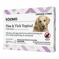 Brand - Solimo for Dogs Large Dog 45-88 pounds Flea and Tick Treatment 3 Doses