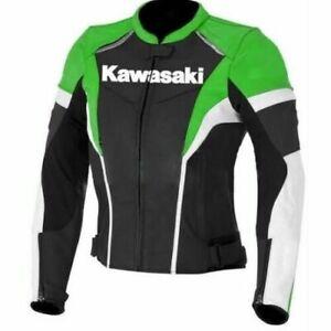 Kawasaki Motogp New Motorbike Motorcycle Racing Riding Leather jacket GE-69-2021