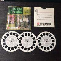 Vintage View-Master 3-Reel Set The Plant Kingdom Botany Complete A328