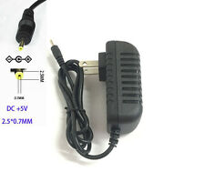 AC Wall Charger 5V 1A DC 2.5*0.7mm Power Adapter for Android Tablet PC
