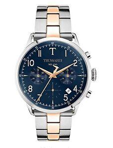 New TRUSSARDI T Evolution Chronograph Men's Watch Rose Gold Steel R2453123005